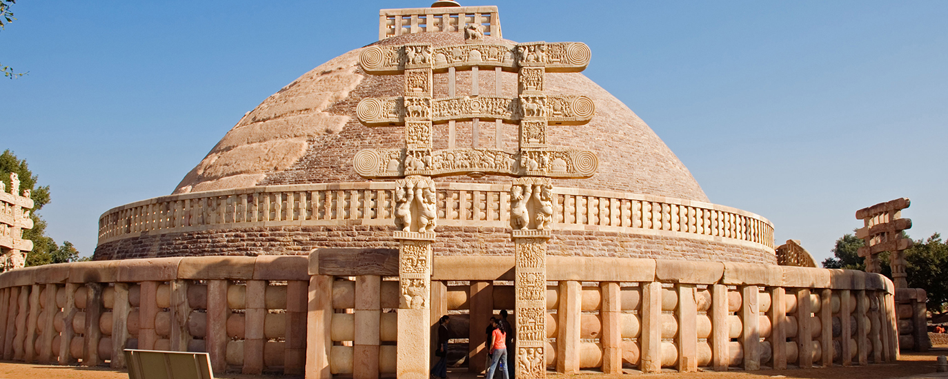 Sanchi Stupa, also written Sanci, is a Buddhist complex, famous for its Great Stupa, on a hilltop at Sanchi Town.